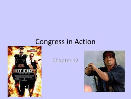 Congress in Action Chapter 12. CONGRESS ORGANIZES Chapter 12 Section 1.