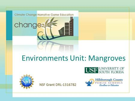 Environments Unit: Mangroves