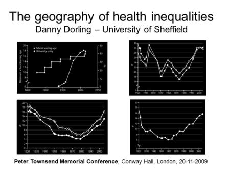 The geography of health inequalities Danny Dorling – University of Sheffield Peter Townsend Memorial Conference, Conway Hall, London, 20-11-2009.