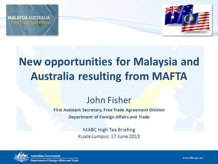 New opportunities for Malaysia and Australia resulting from MAFTA