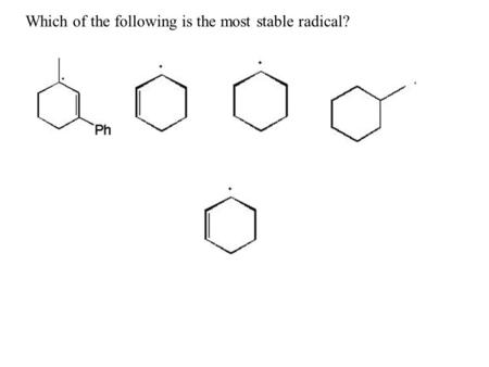 Which of the following is the most stable radical?