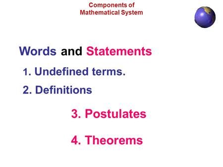 Components of Mathematical System