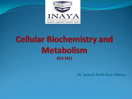 Dr. Samah Kotb Nasr Eldeen. Quantitative determination of serum amylase activity.