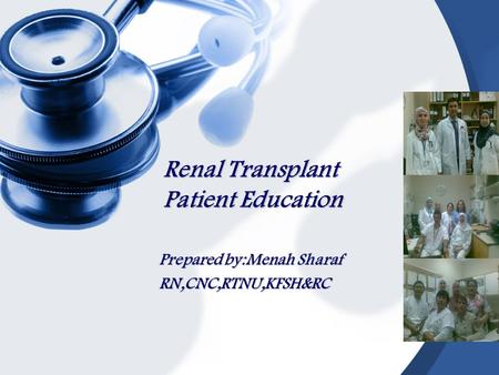 Renal Transplant Patient Education