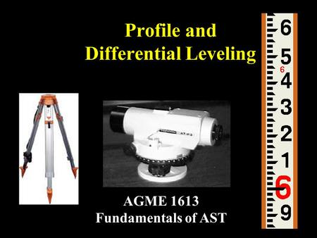 Profile and Differential Leveling