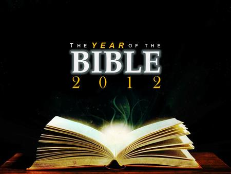 THEOF YEAR T HE 2012. Psalm 1 Blessed is the man who does not walk in the counsel of the wicked or stand in the way of sinners or sit in the seat of mockers.