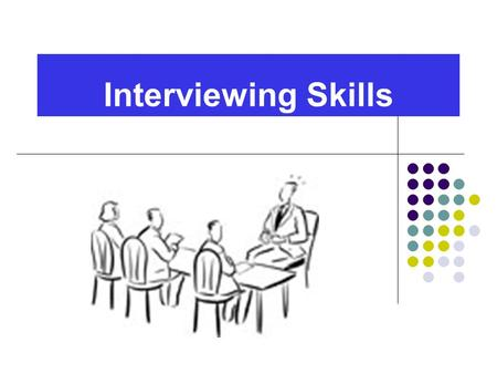 Interviewing Skills. Goals for Interview Introduce & Sell Yourself Who are you? Skills and Strengths Unique Marketable Qualities Sell the Job Interviewer's.