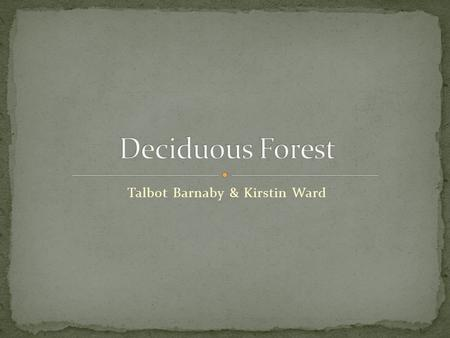 Talbot Barnaby & Kirstin Ward. Deciduous forests can be found in the eastern half of North America, and the middle of Europe. There are many deciduous.