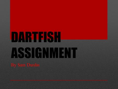 DARTFISH ASSIGNMENT By Sam Durdin. What is a good Technique? Everyone has a different style of kicking. Although you may kick differently to others but.