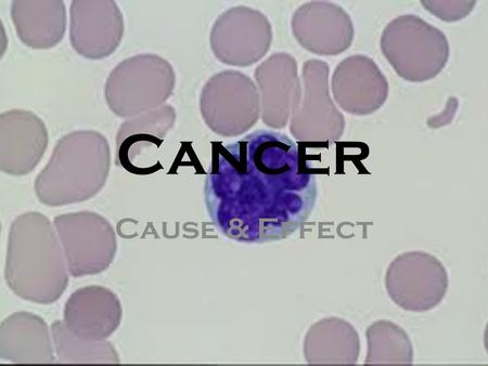 Cancer Cause & Effect. Toxins- Smog Smog is a type of air pollution; the word smog is a portmanteau of smoke and fog. Modern smog is a type of air pollution.
