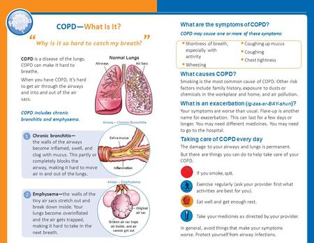 a short description of chronic obstructive pulmonary disease