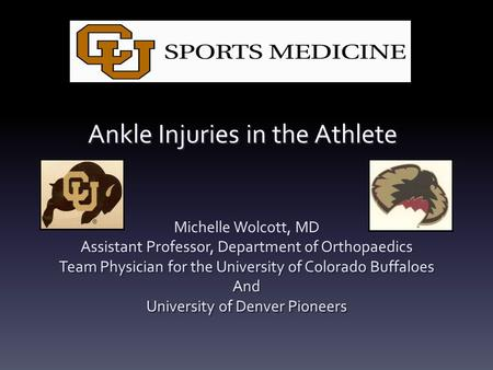 Ankle Injuries in the Athlete