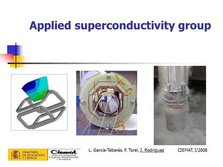 Applied superconductivity group L. García-Tabarés, F. Toral, I. RodriguezCIEMAT, I/2008.