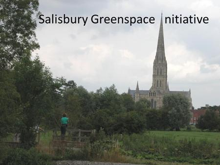 Salisbury Greenspace nitiative. Why are we suggesting this? For the benefits it will bring people and wildlife. Food, water, flood control, climate mitigation.