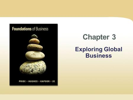 Chapter 3 Exploring Global Business. Copyright © Cengage Learning. All rights reserved. Chapter 3 | Slide 2 Learning Objectives 1.Explain the economic.