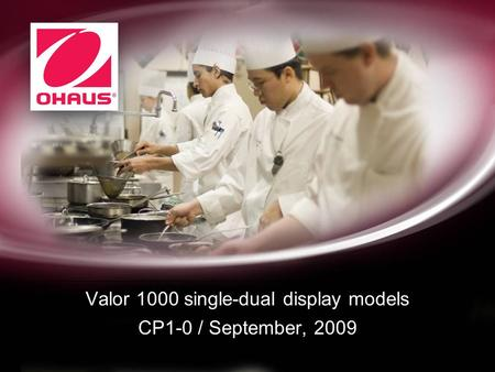 Valor 1000 single-dual display models CP1-0 / September, 2009.