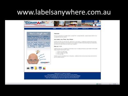 Www.labelsanywhere.com.au. What you can Print! Select a design from the library.