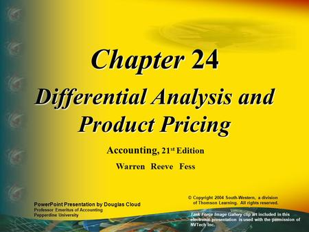 Differential Analysis and Product Pricing