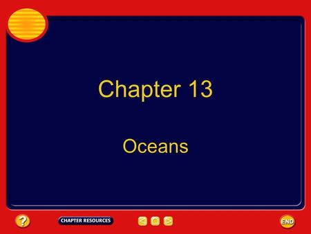 Chapter 13 Oceans. Chapter: Oceans Table of Contents Section 3: WavesWaves Section 1: Ocean Water Section 2: Ocean Currents and ClimateOcean Currents.