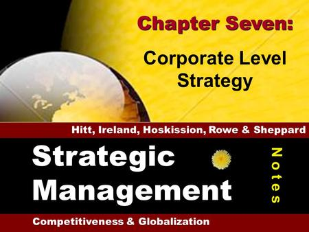 4-1 1 28 Performance & the Model Other Divers. Incentives Economies of Scope Corp. Level Strategy Degrees of Diversification Reasons for Diversification.