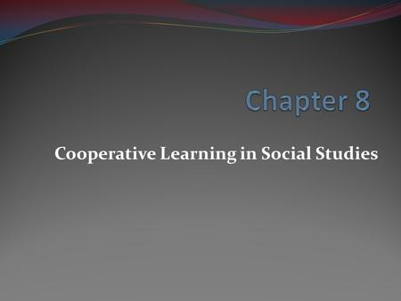 thesis on cooperative learning in science Inquiry-based cooperative learning 1 inquiry-based cooperative learning (adapted from smith, 2000a) karl a smith science, mathematics, engineering.