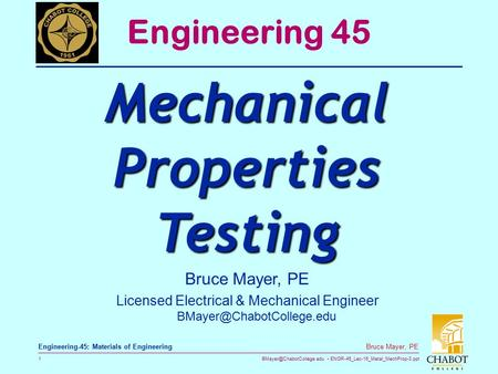Mechanical Properties Testing