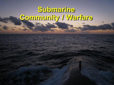Submarine Community / Warfare Submarine. Becoming a Submariner Force Structure Missions Submarine Officer Career Path Becoming a Submariner Force Structure.