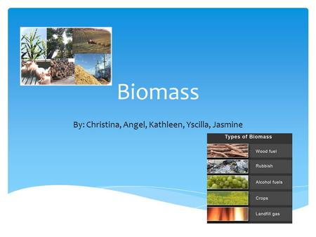 Biomass By: Christina, Angel, Kathleen, Yscilla, Jasmine.