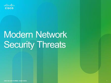 Modern Network Security Threats