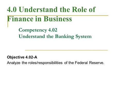 role of federal reserve essay