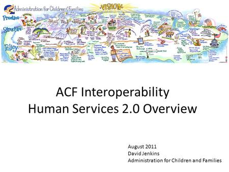 August 2011 David Jenkins Administration for Children and Families ACF Interoperability Human Services 2.0 Overview.