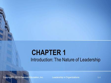 Introduction: The Nature of Leadership