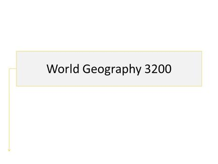 World Geography 3200. Unit 2: Patterns in Weather & Climate.