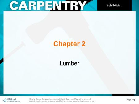 Chapter 2 Lumber. Manufacture of Lumber Logs arrive at a sawmill and the bark is removed. A bandsaw cuts the log into planks. A series of saws are used.