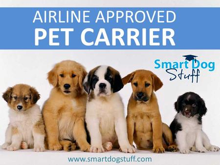 Www.smartdogstuff.com AIRLINE APPROVED PET CARRIER www.smartdogstuff.com.