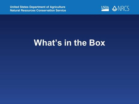 What's in the Box. Purpose Reference Communication Identification.