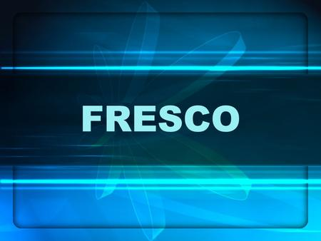 FRESCO. Fresco is any of several related mural painting types, done on plaster on walls or ceilings. The word fresco comes from the Italian word affresco.