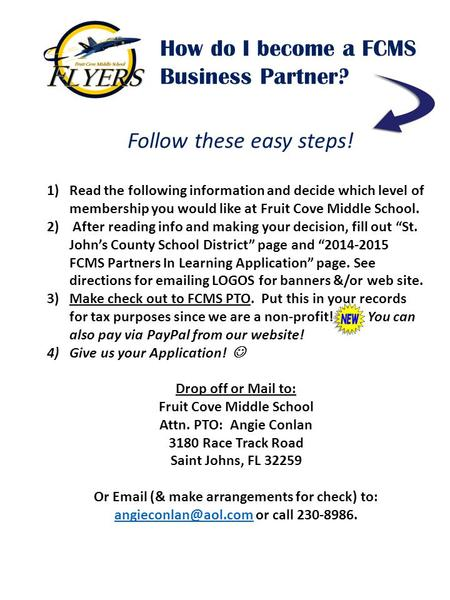 How do I become a FCMS Business Partner? Follow these easy steps! 1)Read the following information and decide which level of membership you would like.