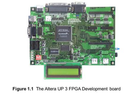 Figure 1.1  The Altera UP 3 FPGA Development board