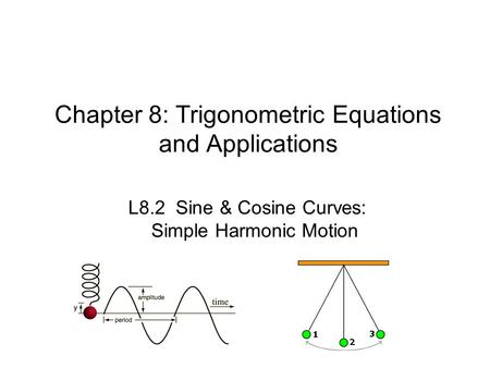 Chapter 8: Trigonometric Equations and Applications L8.2 Sine & Cosine Curves: Simple Harmonic Motion.