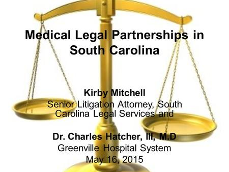 Medical Legal Partnerships in South Carolina