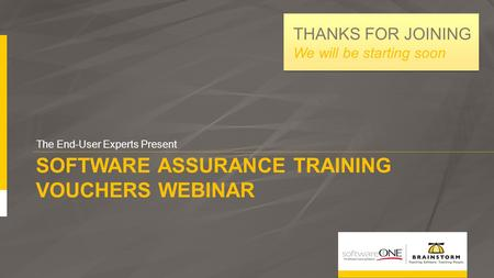 Software assurance training vouchers webinar
