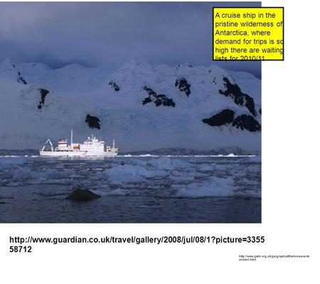 58712 A cruise ship in the pristine wilderness of Antarctica, where demand for trips.