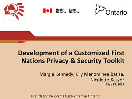 Development of a Customized First Nations Privacy & Security Toolkit