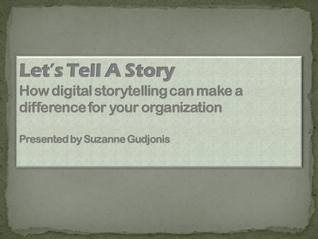 "Digital Storytelling (DS) was ""invented"" in Berkeley in the early 90's when a group of writers, artists, and computer people were trying to find a way."