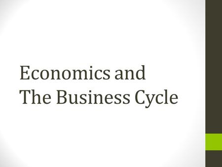 Economics and The Business Cycle. What is The Business Cycle? The expansionary and contractionary phases in the growth rate of the real GDP.