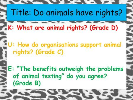 introduction to animal testing essay