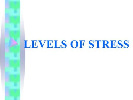 LEVELS OF STRESS. Stress within the word: Looking at words said in isolation (a rather artificial situation except for -´yes`, ´no´, ´possibly´, ´please´,