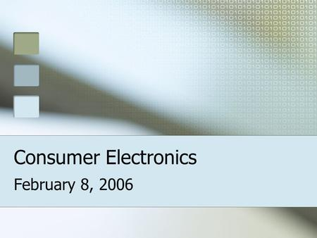 Consumer Electronics February 8, 2006. What type of Digital Camera is right for me?