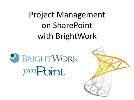 Project Management on SharePoint with BrightWork.